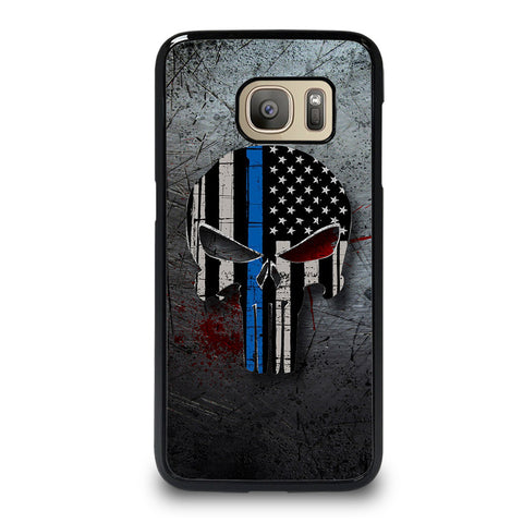 THIN BLUE LINE PUNISHER Samsung Galaxy S7 Case Cover