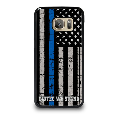 THIN BLUE LINE WE STAND Samsung Galaxy S7 Case Cover