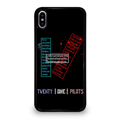 TWENTY ONE PILOTS LOGO iPhone XS Max Case Cover