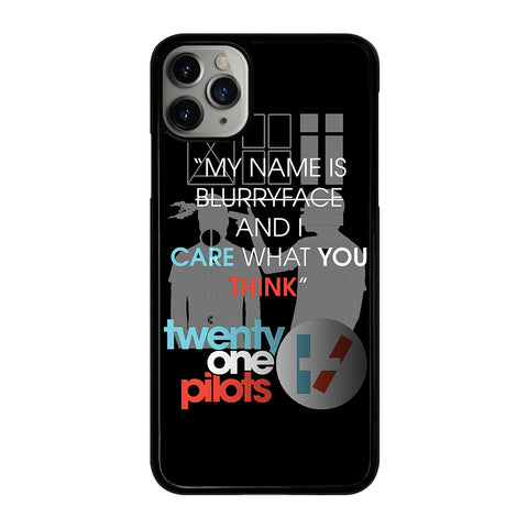 TWENTY ONE PILOTS SHOOT LYRICS iPhone 11 Pro Max Case Cover