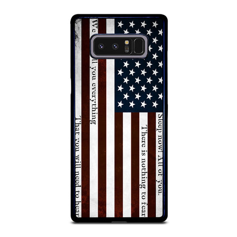 USA RED QUOTES Samsung Galaxy Note 8 Case Cover