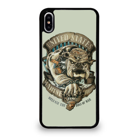 USMC MARINE WAR DOGS iPhone XS Max Case Cover