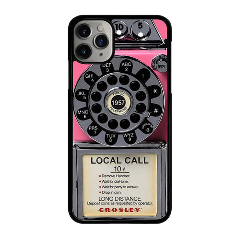 VINTAGE RETRO PAYPHONE PINK iPhone 11 Pro Max Case Cover