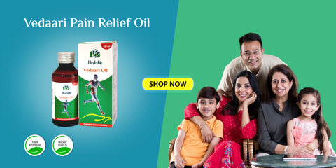HerbsUp vedaari pain relief oil for runners and kids