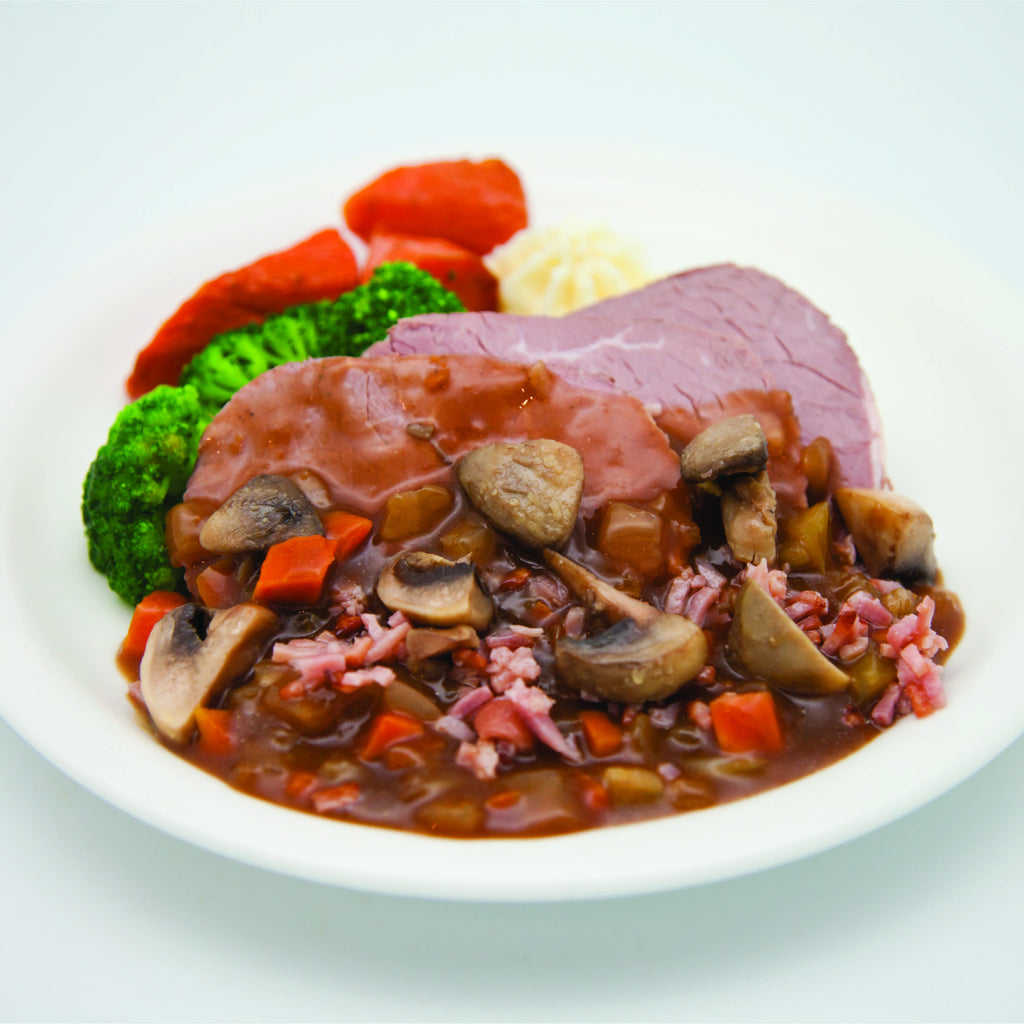 Beef Bourguignon (single serve meal)