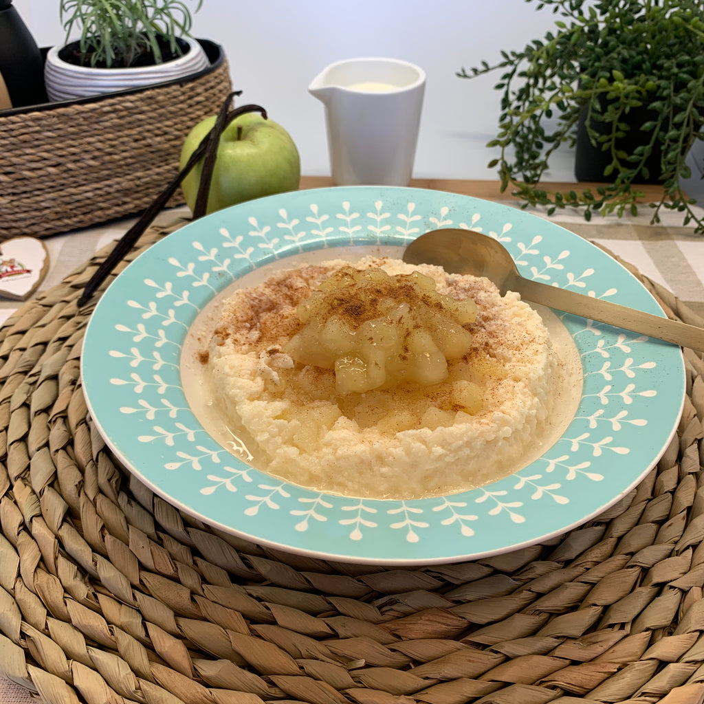 Contented Chef Creamed Rice with Cinnamon Apple (Single Serve)
