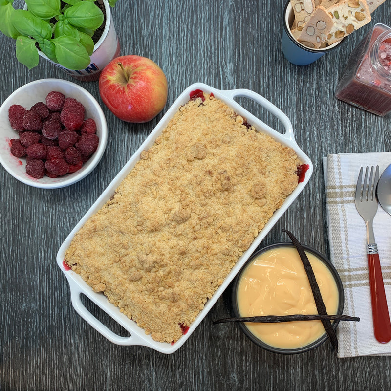 Apple & Raspberry Crumble Dishes to Share 4-6 portions