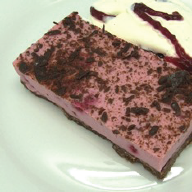 Raspberry Chocolate Cheesecake (single serve)