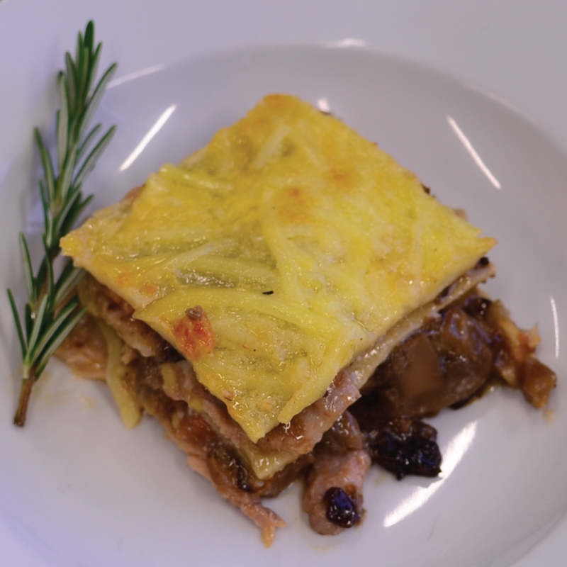 Slow-Cooked Pork & Mushroom Lasagne: Dishes to Share (3-4 portions)