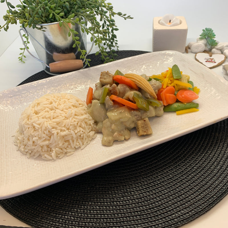 THAI GREEN CURRY PORK (single serve meal)