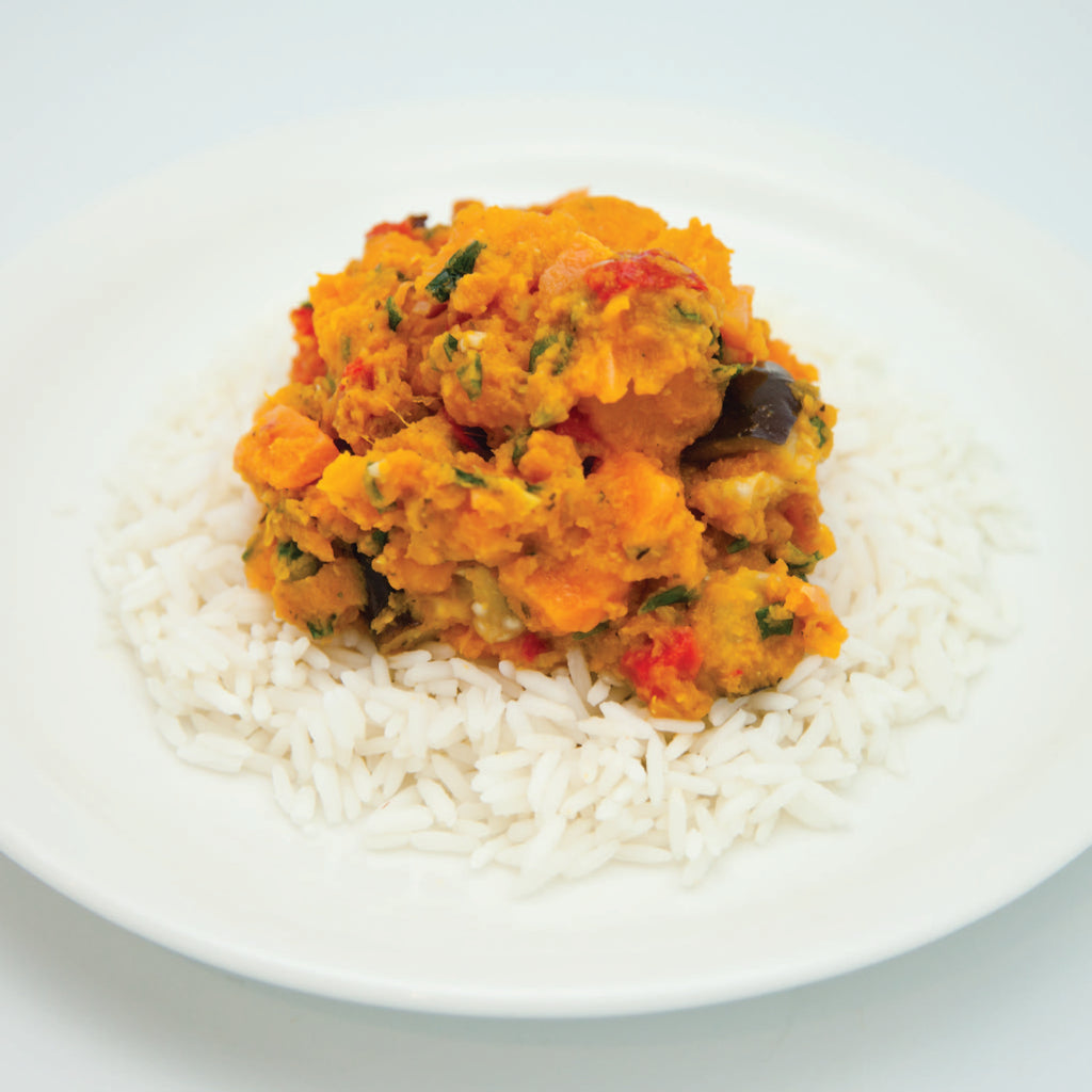 Vegetable Cashew Korma Curry (single serve meal)