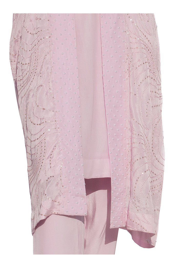 Parfait Pink Embroidered Suit With Pencil Pants