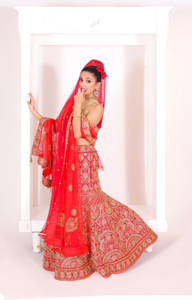 Crimson Red Lehenga Set