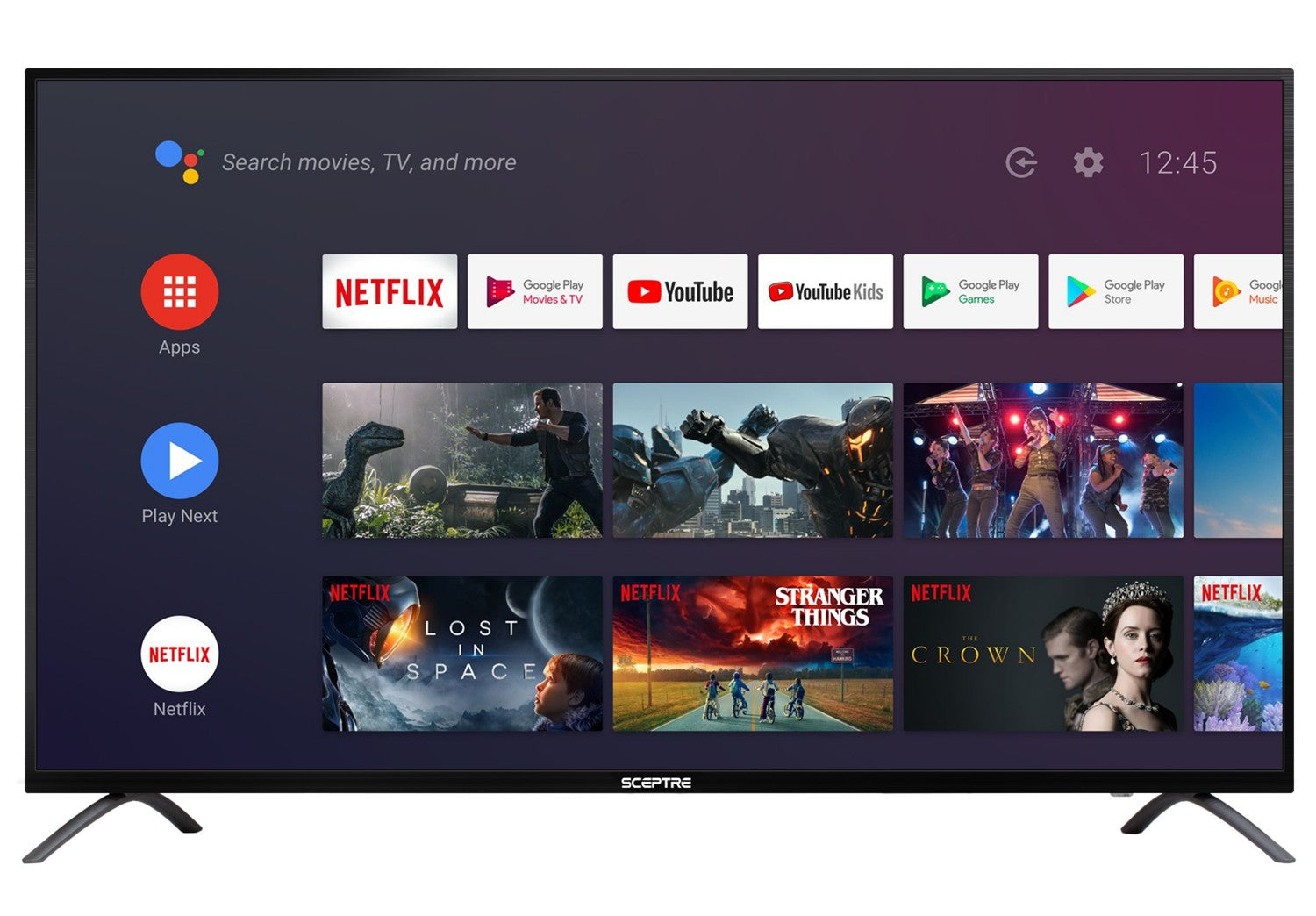 "Sceptre 55"" Class TV (2160p) Android Smart 4K LED TV with Google Assistant (A558CV-U)"