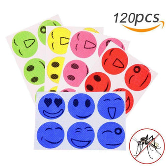 120pcs Mosquito Repellent Patches Stickers 100% Natural Non Toxic Pure Essential Oil   Keeps In...