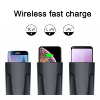10W Car Charger Holder with USB Mobile Phone Charger Car Wireless Charger Cup for IPhoneXS MAX/XR/X/8 Galaxy S9/S8/S7/S6/Note8