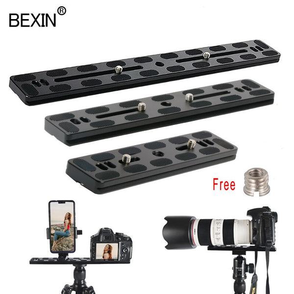 Dslr camera plate tripod plate quick release adapter base plate camera mount plate for dslr camera arca swiss ball head tripod