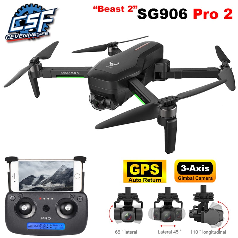 2020 NWE SG906 PRO2 drone 4k HD 5G camera Triaxial anti-shake Self-stabilizing gimbal Upgraded version drones distance 1.2km
