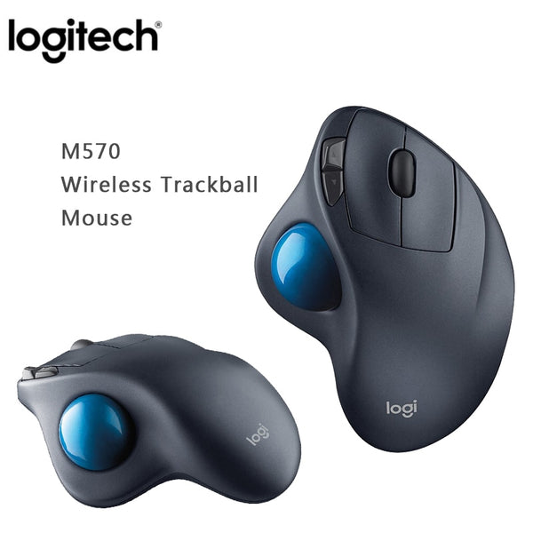 Logitech M570 2.4Ghz Wireless Trackball Mouse 100% Original Ergonomic Vertical Professional Drawing Laser Mice For Win10/8/7