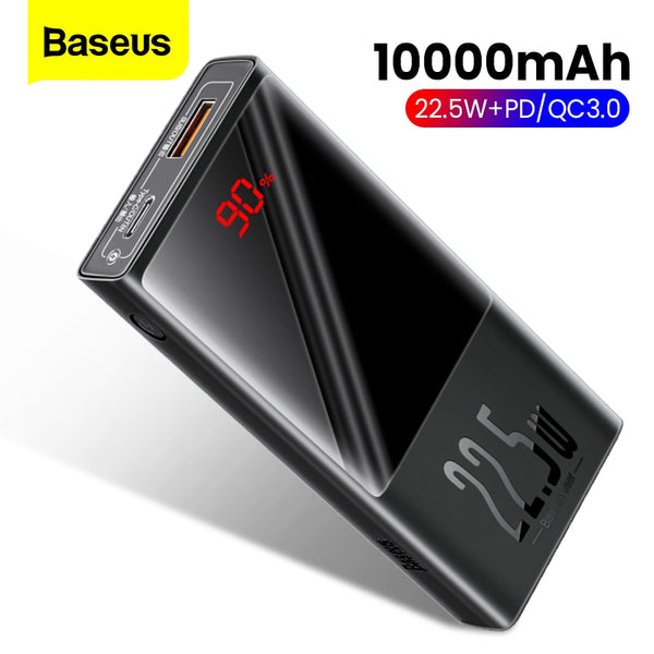 Baseus Power Bank 20000mAh QC PD 3.0 Mini Portable Charger Powerbank Battery With LED Display Fast Charging Poverbank For iPhone