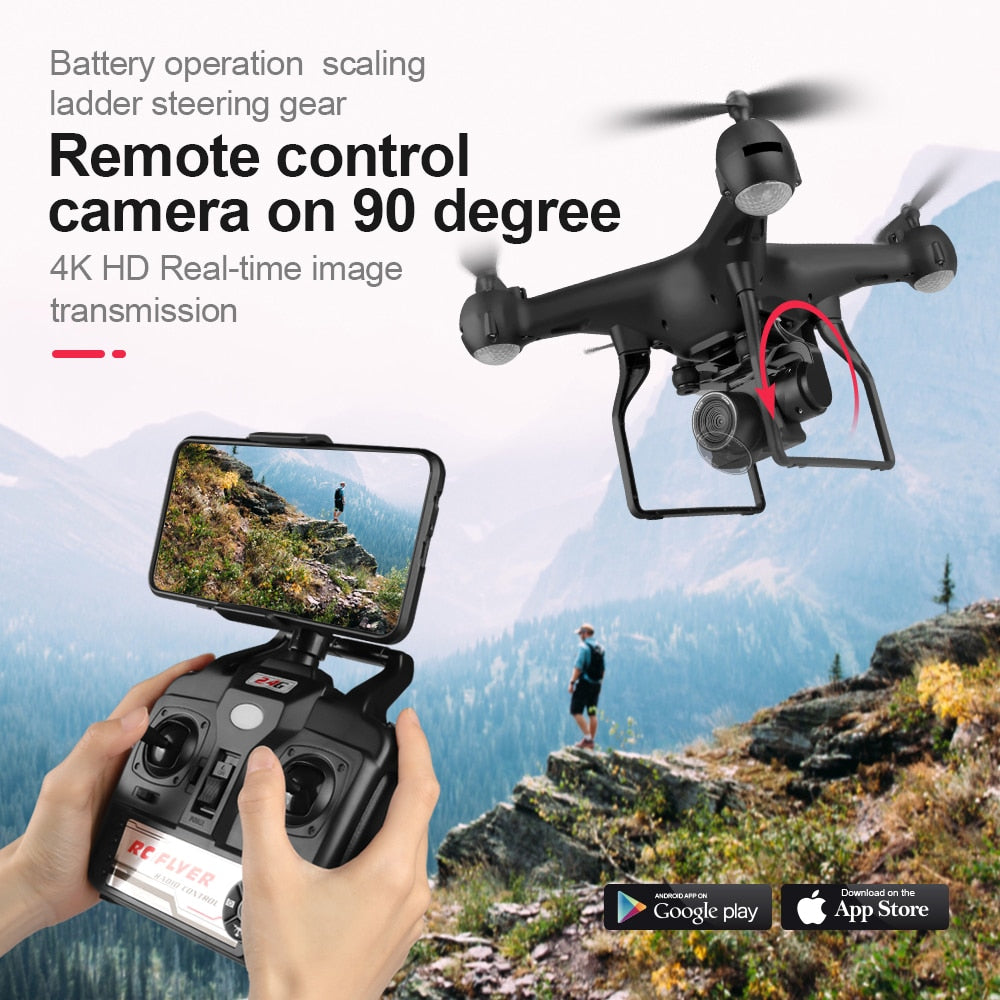 Drone 4K 1080P HD RC Helicopter Foldable Drone Camera F68 WiFi FPV RC Optical Flow long Flying Time RC Quadcopter Aircraft