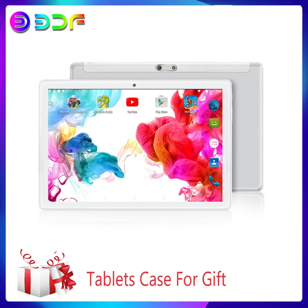10.1 inch Tablet New 2.5D Steel Screen Tablets 3G/4G Phone Call Android 9.0 Octa Core 6GB-64GB ROM Bluetooth Wi-Fi Tablet PC