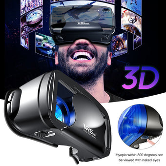 VRG Pro Wide-Angle VR Glasses Box 5~7inch 3D VR Glasses Virtual Reality Full Screen Visual For 5 to 7 inch Smartphone Eyeglasses (VRG PRO)
