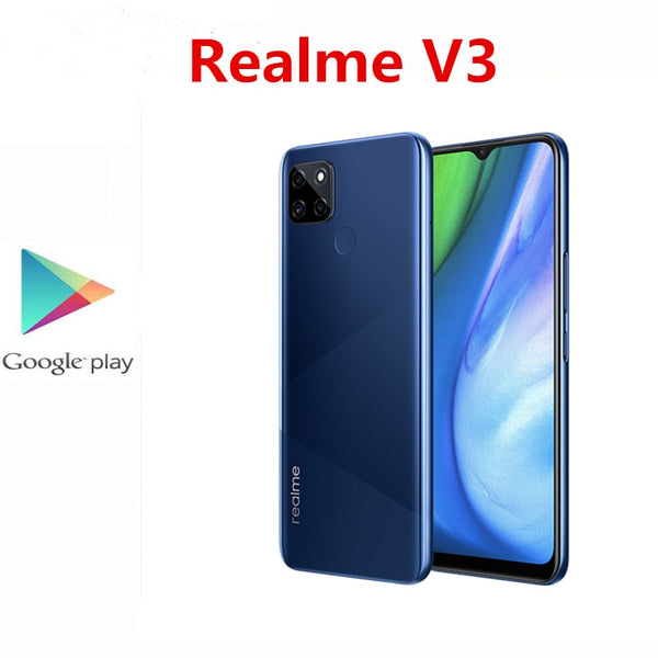 Original Realme V3 5G Mobile Phone 13.0MP +2.0MP+2.0MP+8.0MP 5000mAh 18W Charger 6.5