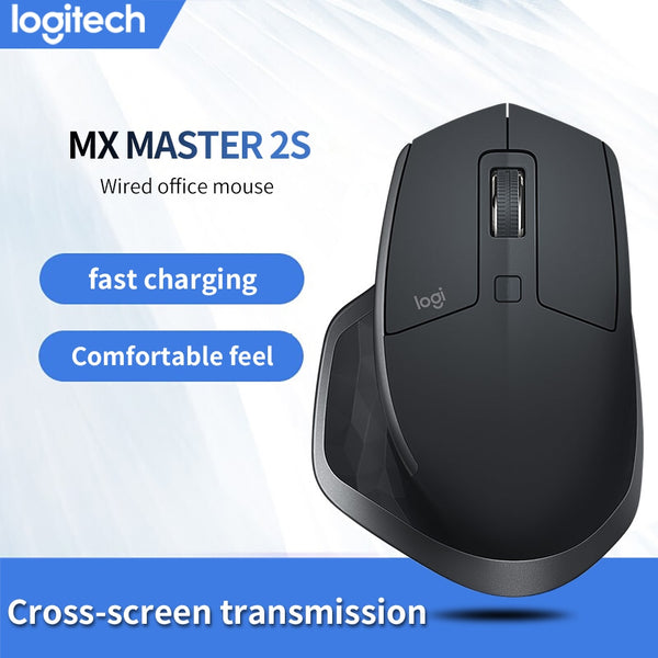 Logitech MX Master 2S Mouse 4000DPI New Possibility Machine with Fast Recharging Easy-Switch Mice for Windows Mac OS Linux (Black)