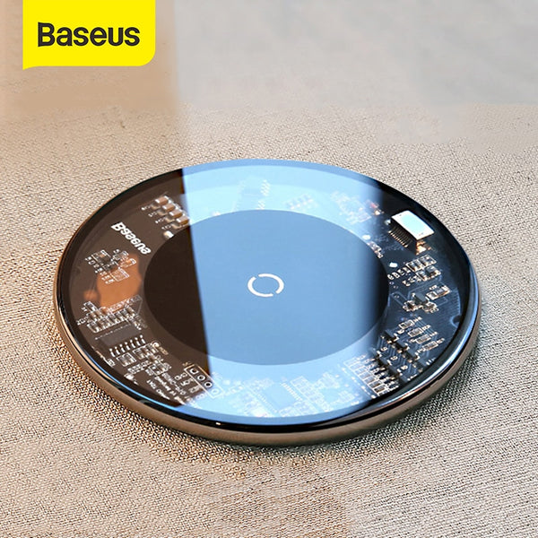 Baseus Qi Wireless Charger For iPhone 11 Pro Xs Max 10W Qi Wireless Fast Charger Visible Charger Pad For Universal Phone Charge