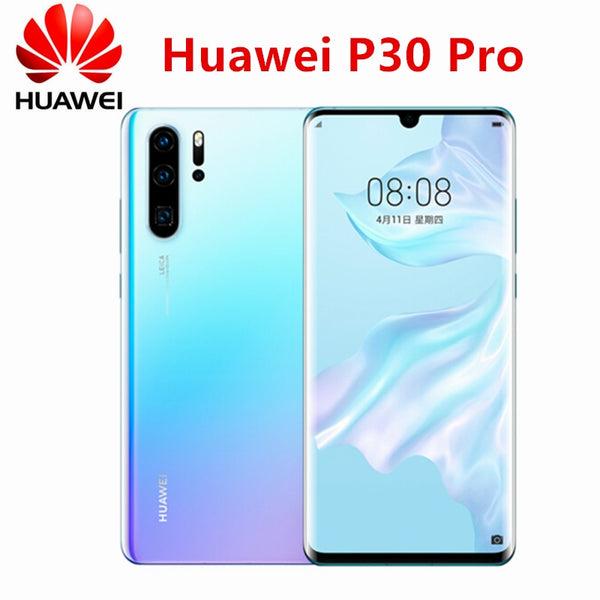 Original New Official Huawei P30 Pro Cell phone Kirin 980 2.6GHz Android 9.1 6.47inch OLED 2340X1080P IP68 NFC 4 Cameras 40MP