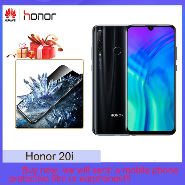 Honor 20i 32MP AI Selfie Ultra Wide-angle  4GB+128GB Full Screen AI Blacklighting 24MP AI Triple-lens Rear Camera