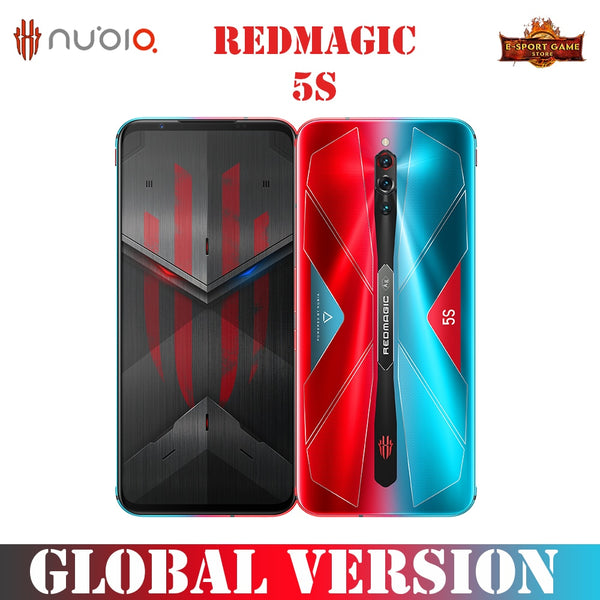 Nubia RedMagic 5S SmartPhone 144Hz Qualcomm Snapdragon 865 8/ 12G  128/ 256G 64MP Sony Triple Camera 4500mAh Mobile Phones
