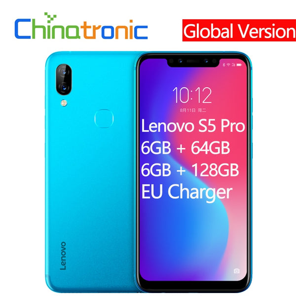 Global Version Lenovo S5 Pro 6G 64G 4G FDD LTE 6.2