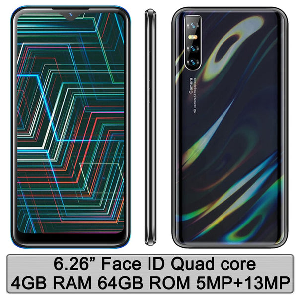 Global version Note9 Original 4G RAM 64G ROM 6.26'' Face id Mobile Phones Smartphones Quad core Android Unlocked celulars Phones