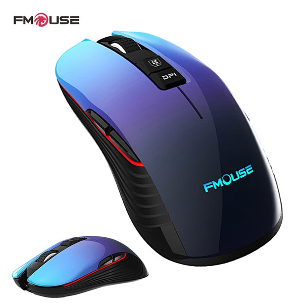 Rechageable Mouse 2.4G Wireless Mute Ergonomic Mouse 3600DPI Colorful breathing light Mice for Gaming Office Laptop Pc and Mac