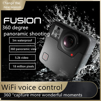 GoPro fusion 360 degree panoramic motion camera  intelligent high-definition video small waterproof camera