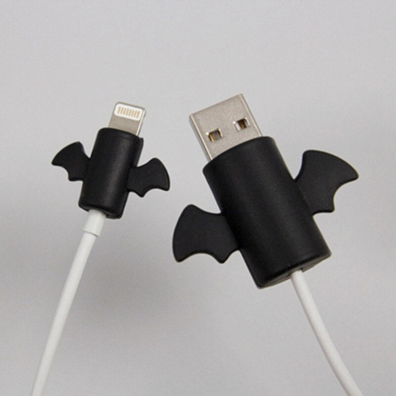 Cute Angel Simple Cable Protector Data Line Protector Sheath Cable Winder Cover for IPhone Original USB Charging Cable