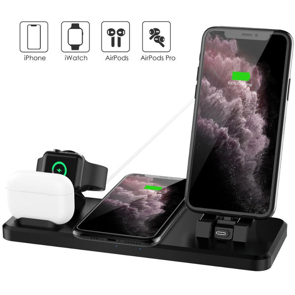 Labobbon Wireless Charger for iPhone 11 15W Wireless Charging Station for iPhone Max XS XR iWatch 5 4 3 AirPods Pro 1 2