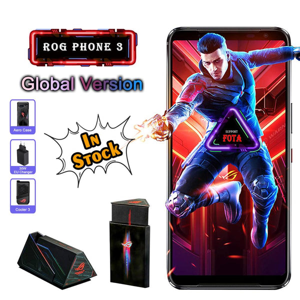 ASUS ROG Phone 3 Global Version 5G Smartphone Snapdragon865plus 256/512ROM 6000mAh OTA Update Android Q Gaming Phone ROG 3