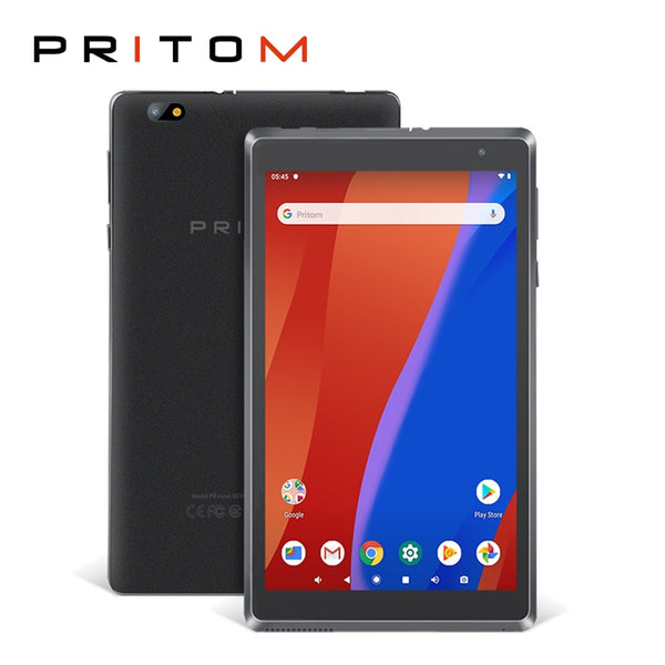 PRITOM L8 Tablet 8'' Tablet PC Android 9.0 WiFi Tablets 2GB 32GB Tab Quad Core HD IPS Screen 8.0MP Camera Support Multi-language (Black)