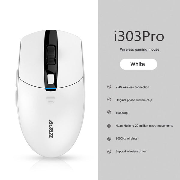 16000DPI Mice Small Household i303pro 2.4GHz 8 Buttons Computer Accessories for Ajazz Laptop Wireless Gaming Mouse