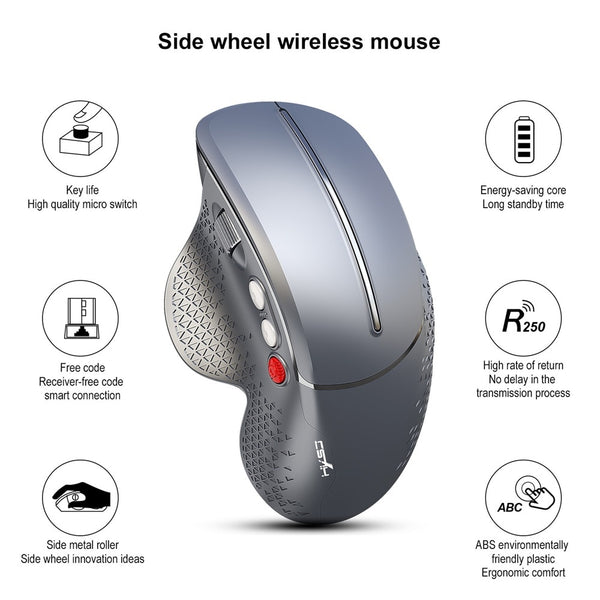 KuWFi Wireless Mouse 2019 New Vertical Gaming Mouse 6 Buttons 800--2400DPI Ergonomic Vertical Side Wheel Mouse for PC/Laptop