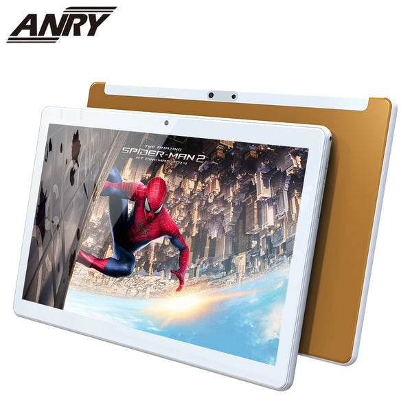 ANRY Android Tablet 10 Inch WiFi Tablet 4G Phone Call 32GB ROM Tablet Pc MTK6737 Google Play Android 8.1 Dual Camera