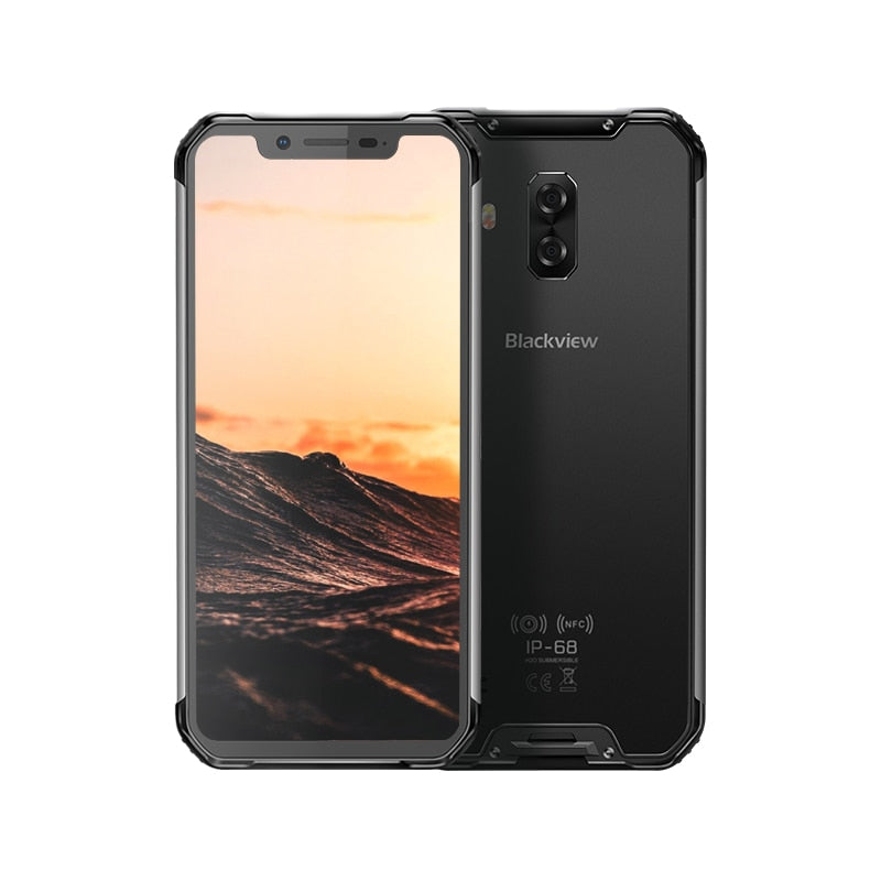 "Blackview BV9600E New Waterproof Mobile Phone Helio P70 Android 9.0 4GB RAM 128GB ROM 6.21"" AMOLED 5580mAh Rugged Smartphone"