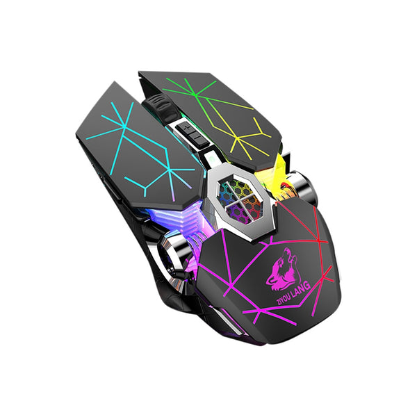 X13 Wireless Rechargeable Game Mouse Mute Liquid-cooled Shining Mechanical Mice Ergonomic Computer Silent PC Gamer Desktop