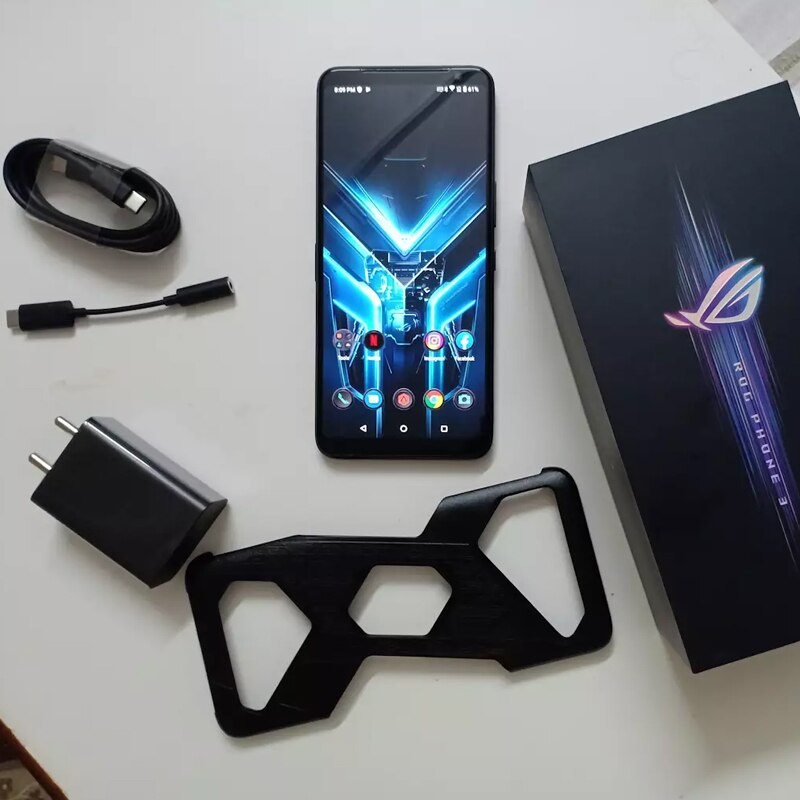 Global ROM Asus ROG Phone 3 Game Phone 12G 256G Snapdragon 865 Plus Mobile phone Google Playstore Dual SIM 6.59 inch ROG Phone 3