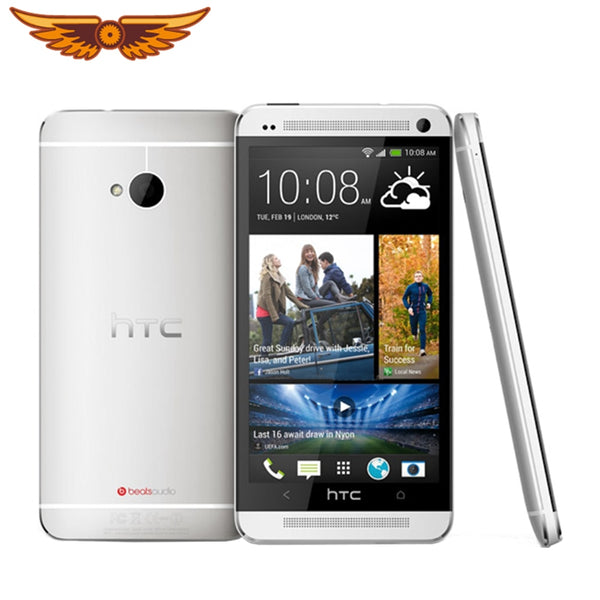 Original Unlocked HTC One M7 Quad Core 4.7 Inch 4MP 32GB ROM 2GB RAM 1080i 2300mAh Touchscreen Android Mobile Phone