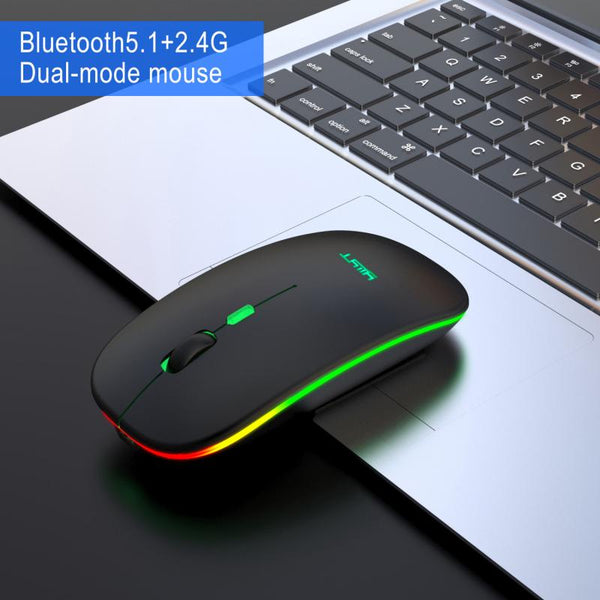 Silent Bluetooth 5.1 Dual Mode Charging Wireless Mouse Silent 2.4G Mouse 500mAh Rechargeable Mouse For Office Games Universal