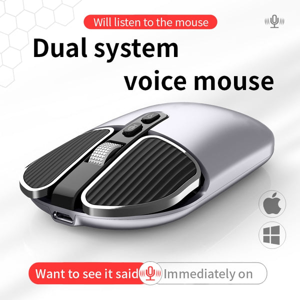 1PCS Phylina M6 intelligent voice mouse dual system multi-language translation wireless silent office mouse